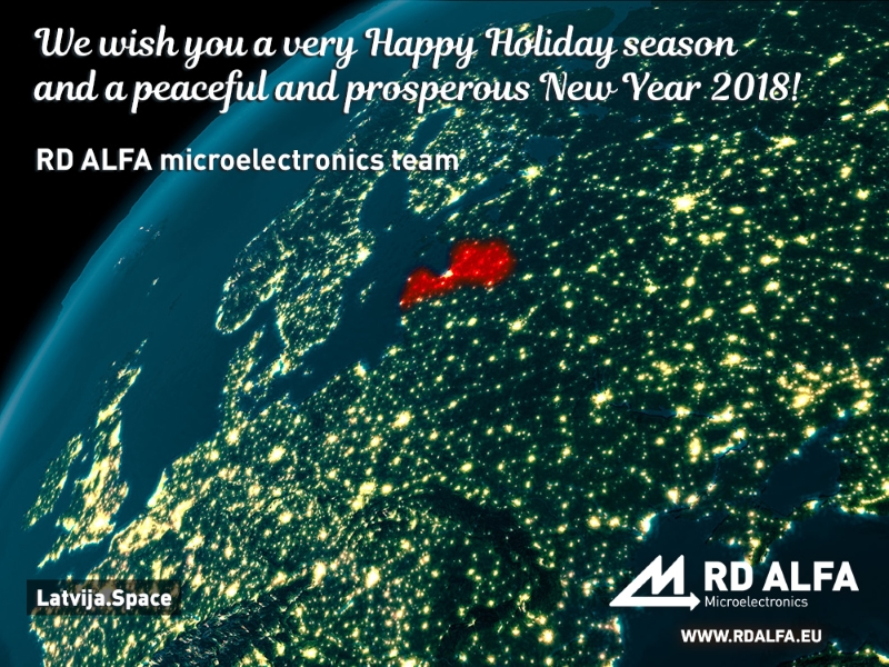 Happy New Year 2018, RD ALFA Microelectronics