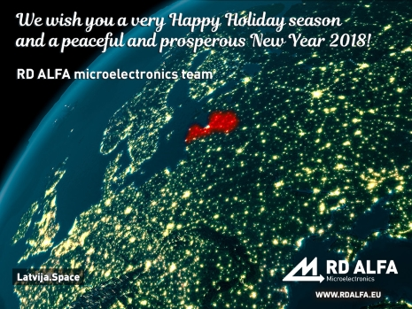 Happy New Year 2018, RD ALFA Microelectronics.